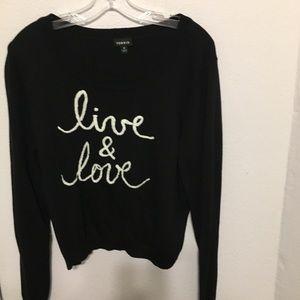 Live & Love Torrid Sweater 2  Black/white cropped